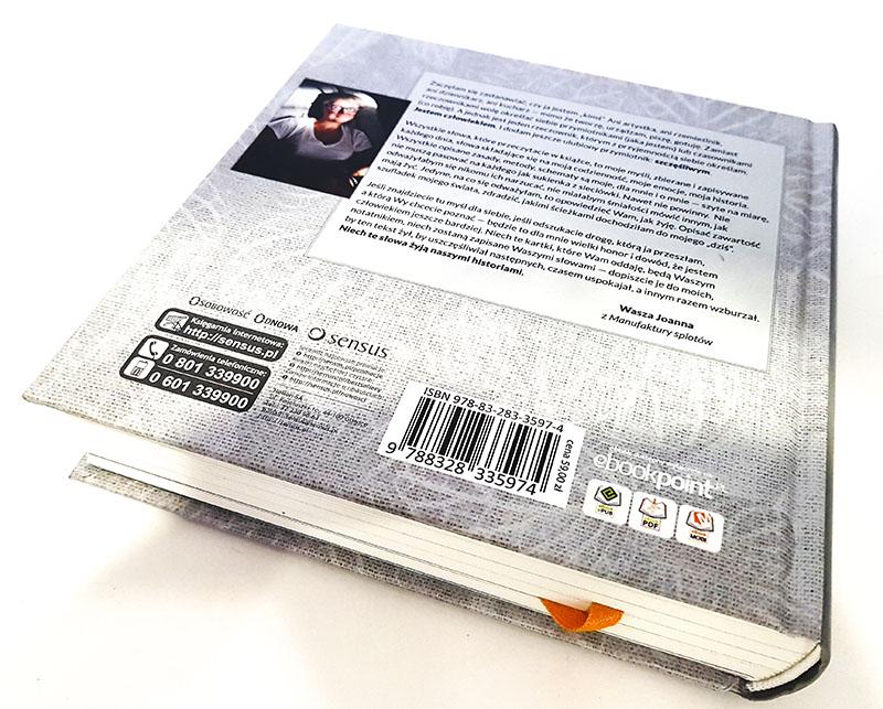tył okładki książki Manufaktura codzienności