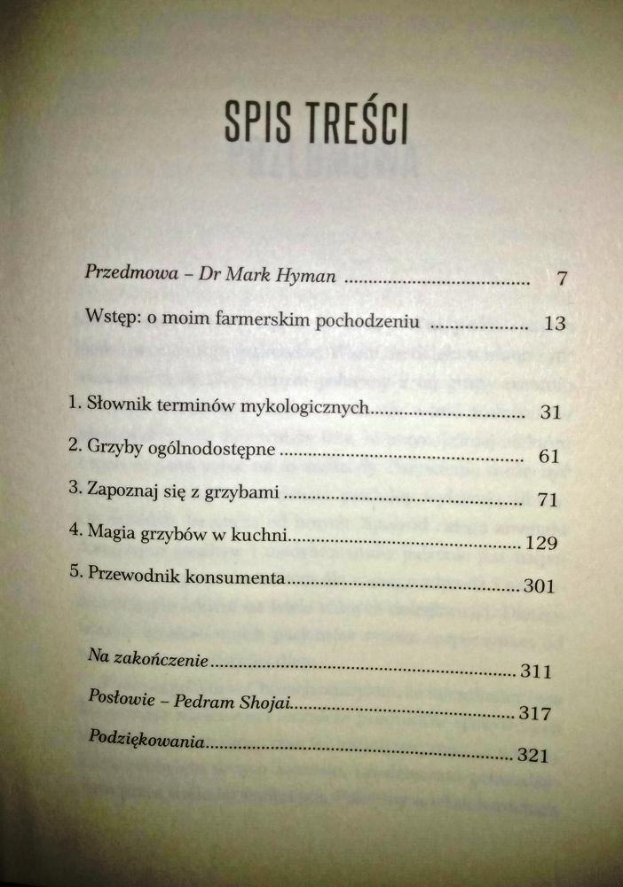spis treści Lecznicze grzyby książki